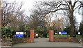 NZ2966 : Entrance to Richardson Dees Park by Christine Westerback