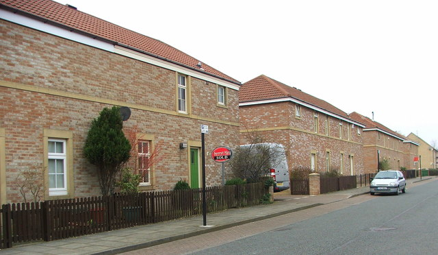 Linskill Street, North Shields, looking north