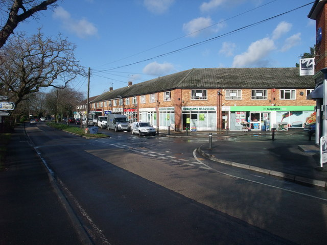 Village centre shops, Bransgore