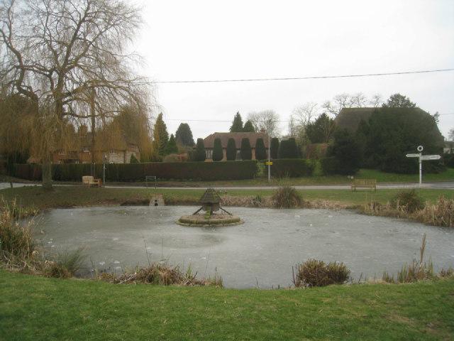 Frozen village pond - Oakley