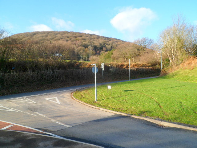 Northern end of Llwynu Lane, Abergavenny