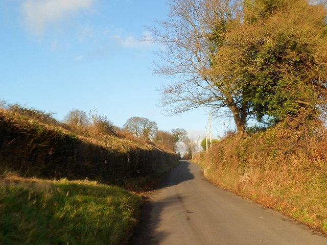 Old Hereford Road heads away from Abergavenny