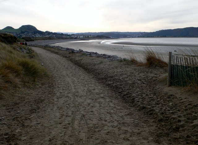 The All Wales Coastal Path approaching Deganwy from Llandudno.
