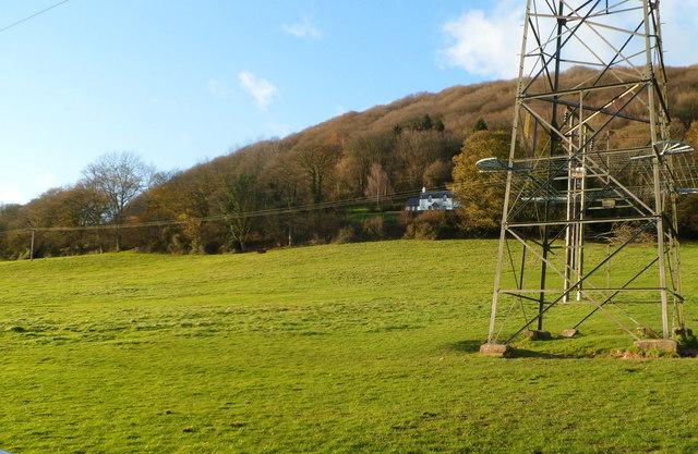 Twyn-yr-allt viewed from Deri Road, Abergavenny