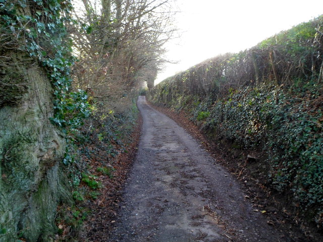 Narrow roadway, no pavements and steep edges, Deri Road, Abergavenny