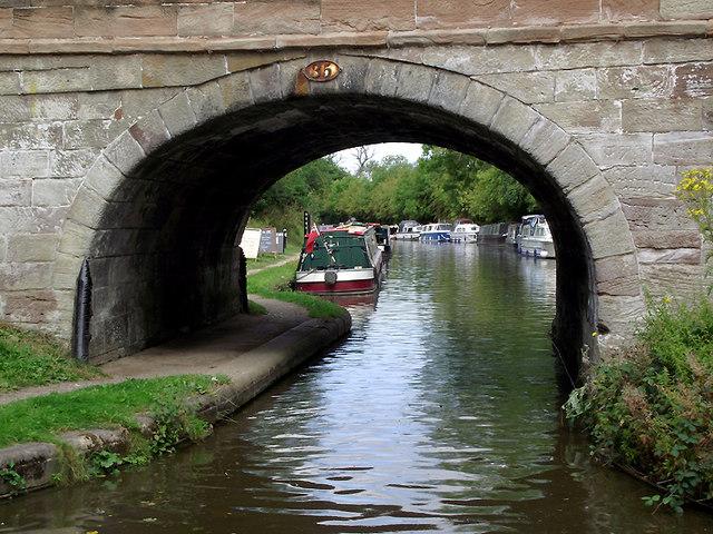 Through the bridge at Gnosall Heath, Staffordshire