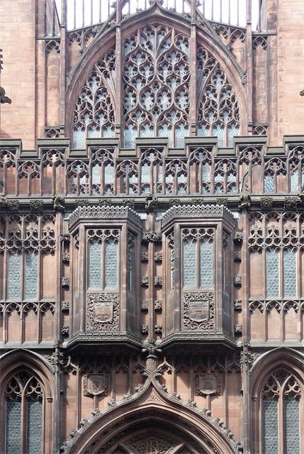 Detail of John Rylands Library, Deansgate, Manchester