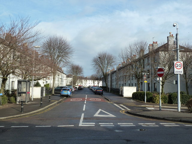 Winter view down Froghall Avenue, Aberdeen
