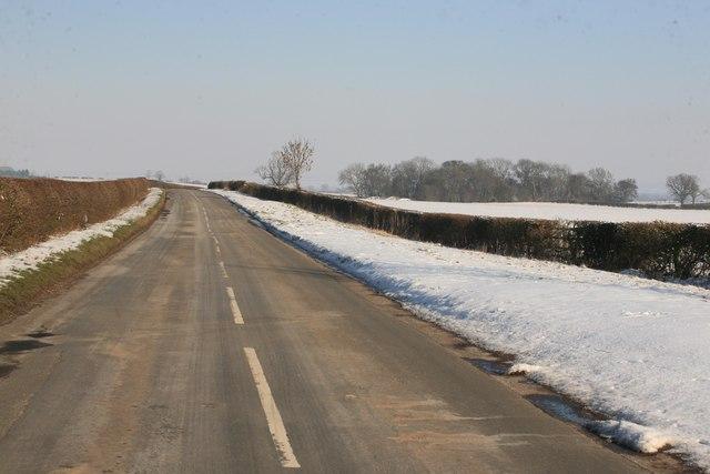 Minor road north of Grove village