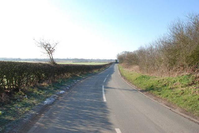 Looking towards Bloxwich from Wyrley Lane