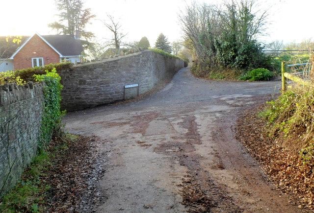Western end of Deri Road,Abergavenny