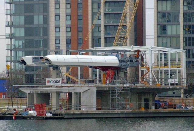 Gondola station under construction