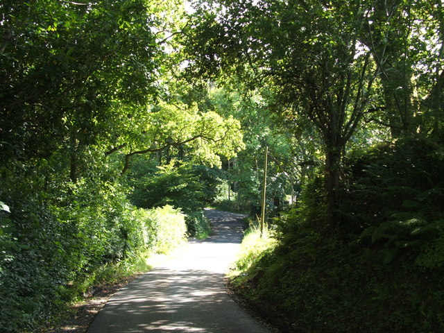 Road leading over the Gallangad Burn