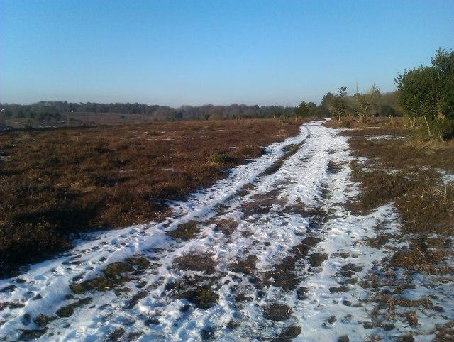 Snowy track near Homy Ridge