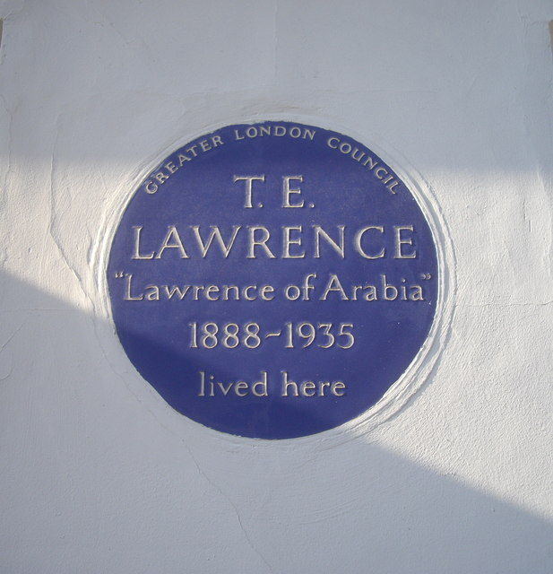 Blue Plaque T.E. Lawrence lived here