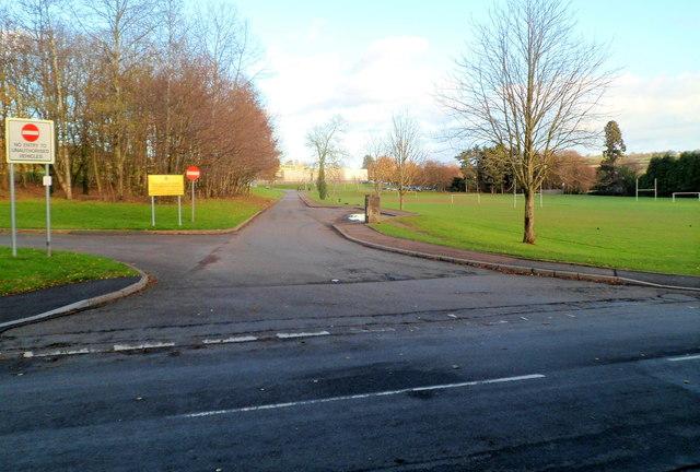 Western edge of King Henry VIII school, Abergavenny