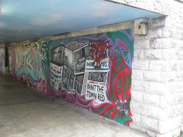 Subway under Conway Road, Llandudno Junction