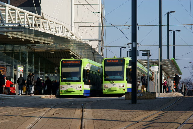 Trams at East Croydon