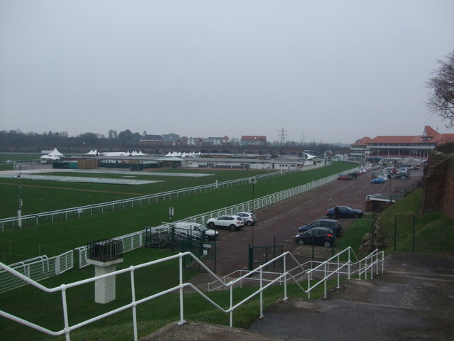 The finishing straight at the Roodee Chester