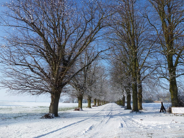 White road to Red House Farm