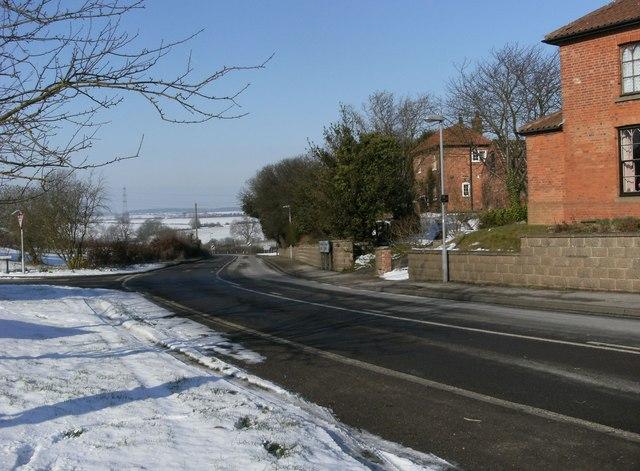 A616 at Kneesall