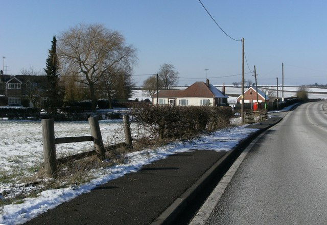 The A616 at Ompton