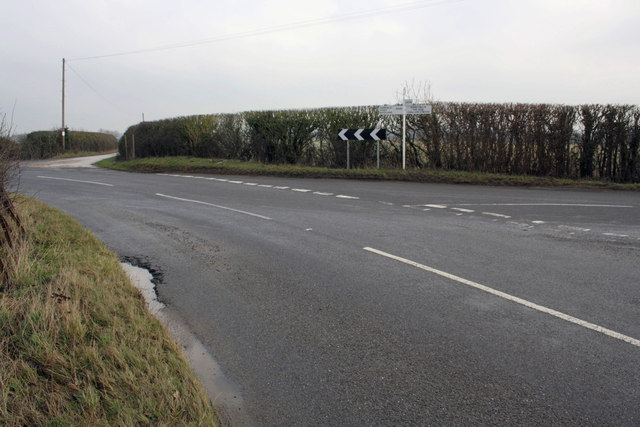 Junction of Bow Road and B4508