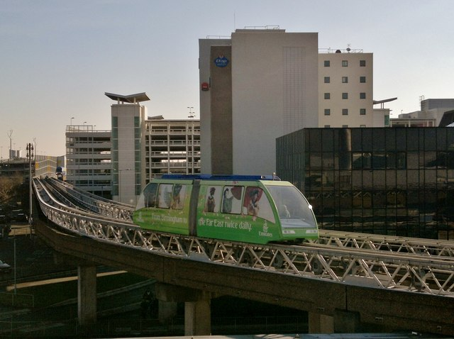 The Air-rail link and hotels at Birmingham International Airport