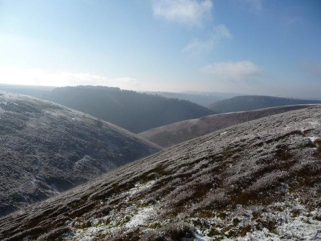 Upper Cwm Gwyddon in winter