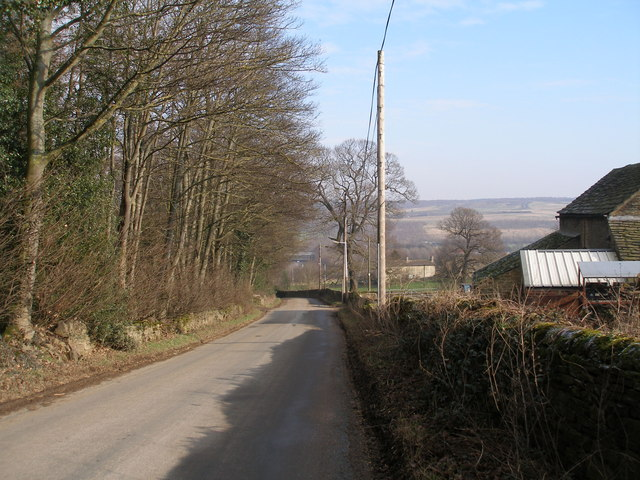 Jebb Lane near Haigh Hall Farm