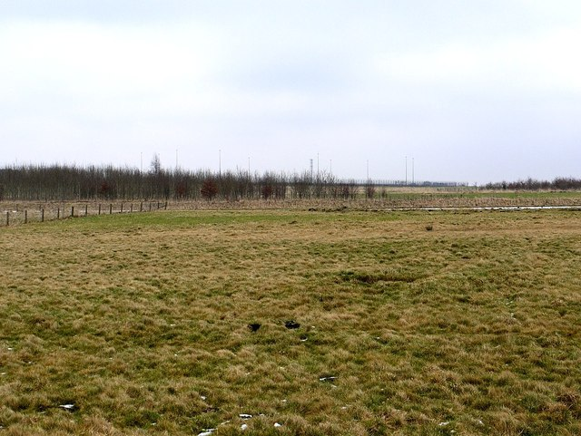 Disused Ouston Airfield from the west