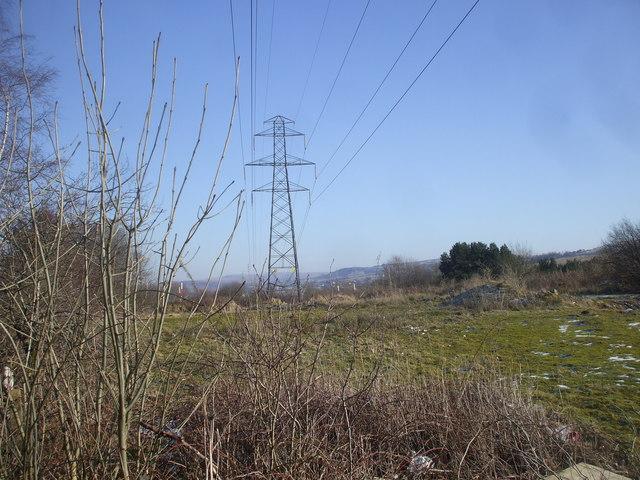 Power transmission line near Brynmawr