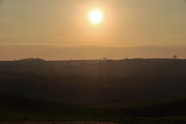 Mid Devon : Sunset Scene