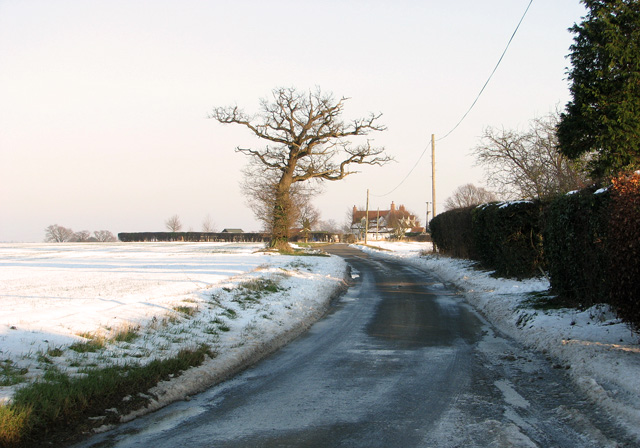 Country lane to Washbrook
