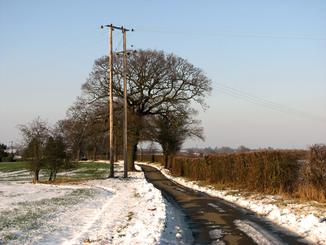 Approaching Wood's Hill on Church Lane, Washbrook
