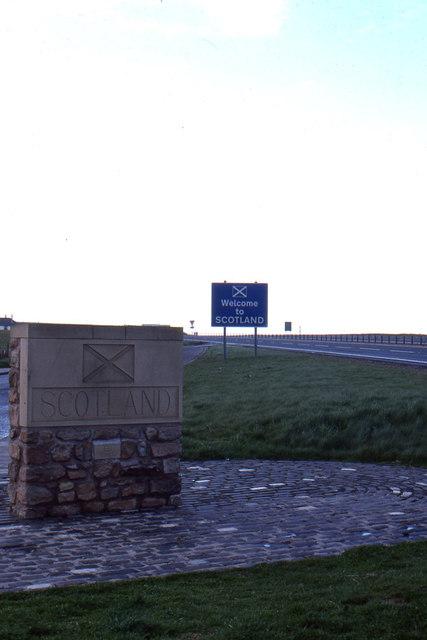 Scottish border, north of Berwick
