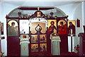 TF9336 : Iconostasis, Orthodox Church of St Seraphim, Little Walsingham by nick macneill