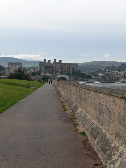 Footpath over the river Conwy