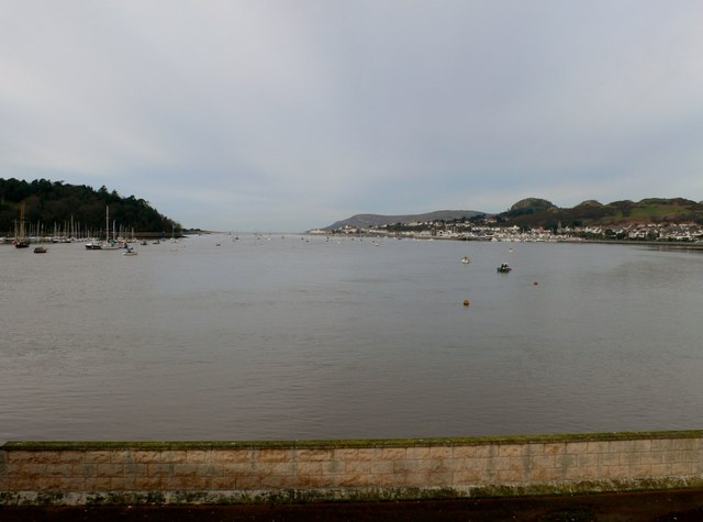 The river Conwy from Conwy Bridge