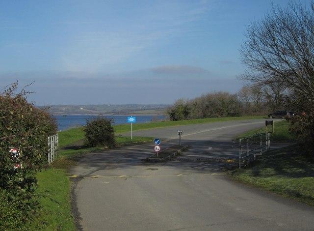 Car park entrance, Roadford Lake