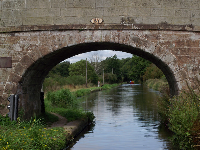 Barn Bridge north-west of Gnosall Heath, Staffordshire