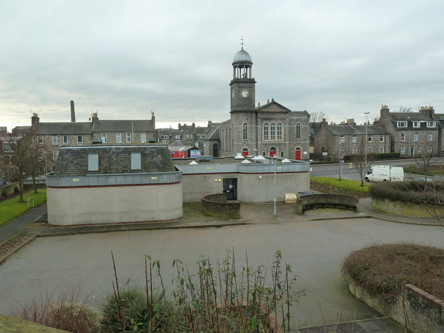 Froghall Community Centre (foreground) and St Stephen's Church (rear)