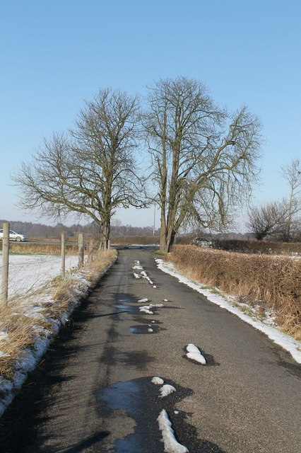 Track from Pyewipe Inn joins A57