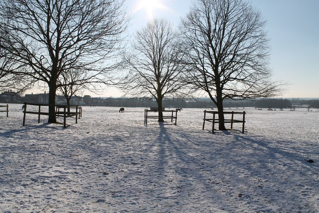 Lincoln West Common in snow