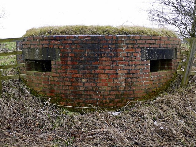 Pillbox, north of Ouston airfield