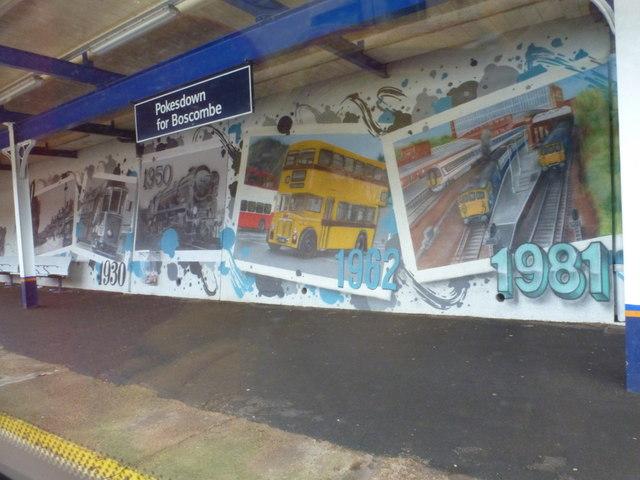 Pokesdown: station mural (2)