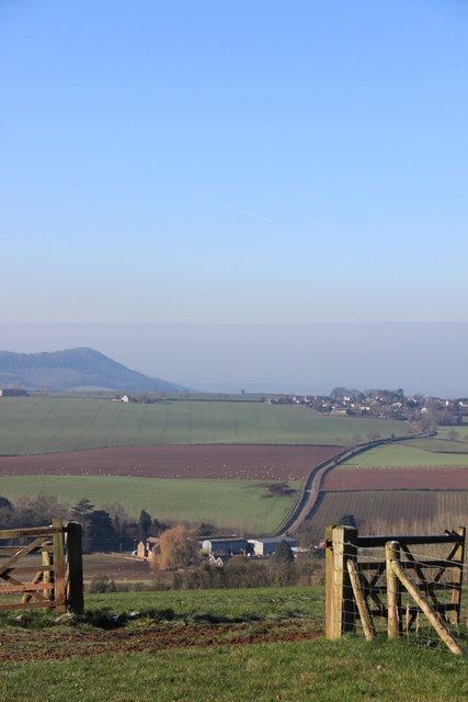 Bromsash from Linton ridge in early February