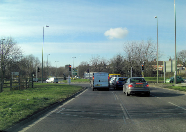 A4142 junction with A4158