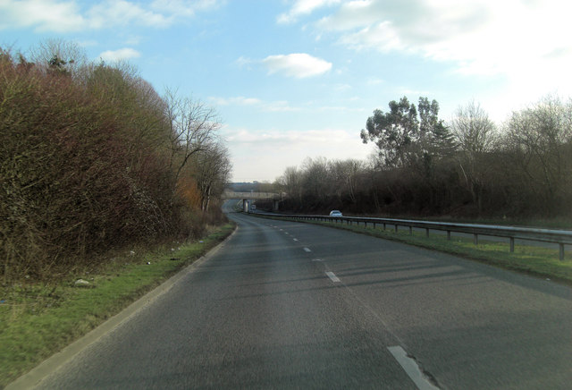 A4074 crossed by the Sandford Road bridge