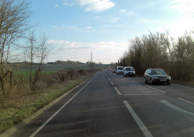 A4074 south of Sandford on Thames